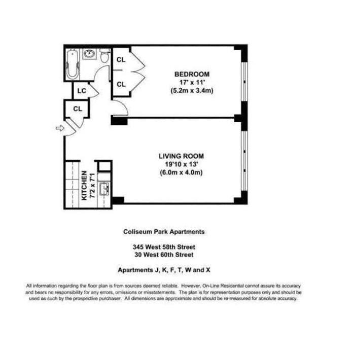 30 West 60th Street 3X, Upper West Side, NYC, $650,000, Web #: 20791557