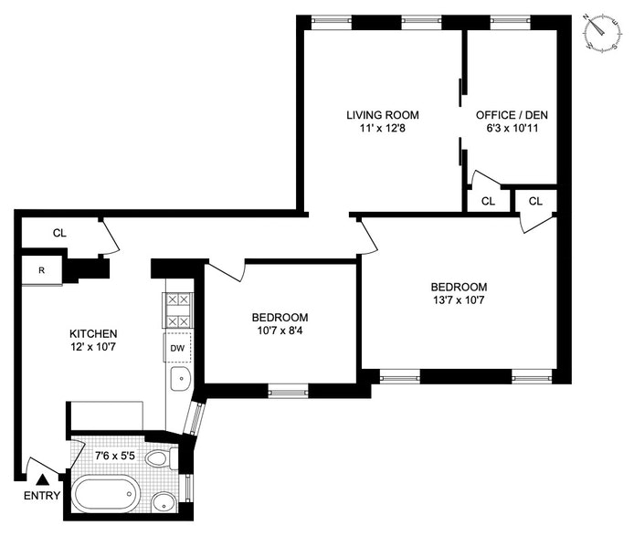 509 West 122nd Street 3, Morningside Heights, NYC, $699,000, Web #: 20793863