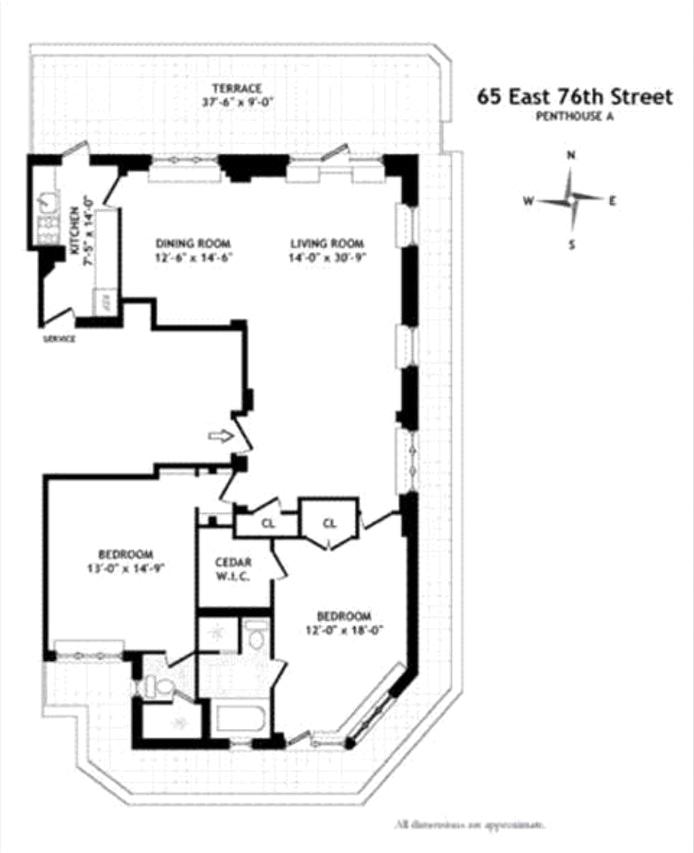 65 East 76th Street Pha, Upper East Side, NYC, $2,800,000, Web #: 20794346