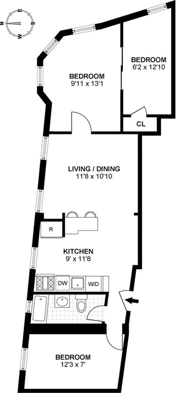 2 Jane Street 5C, West Village, NYC, $975,000, Web #: 20794448