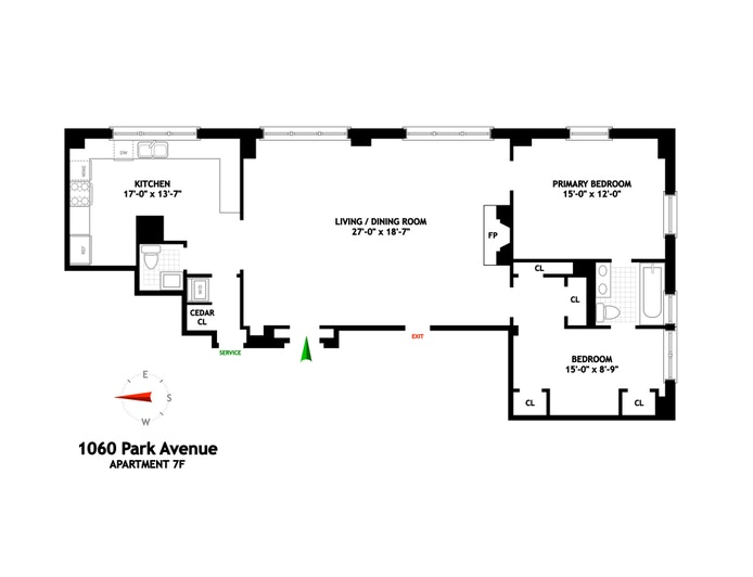 1060 Park Avenue 7F, Upper East Side, NYC, $2,250,000, Web #: 20800583