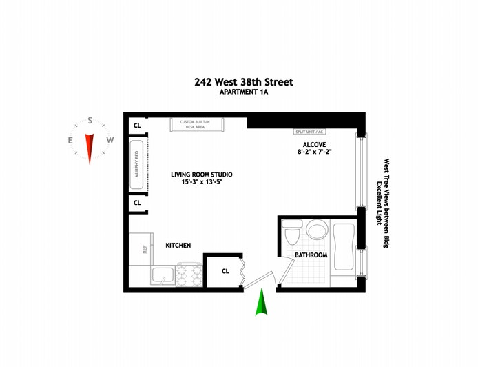242 East 38th Street 1A, Midtown East, NYC, $399,000, Web #: 20803889