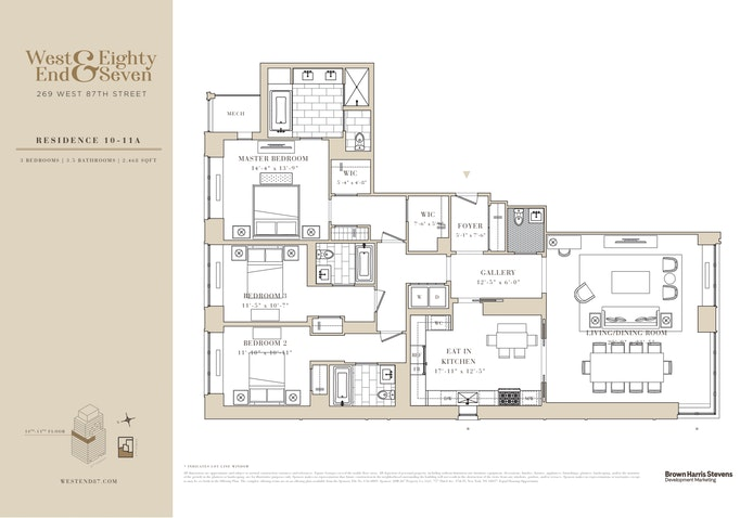 269 West 87th Street 10A, Upper West Side, NYC, $3,240,000, Web #: 20807166