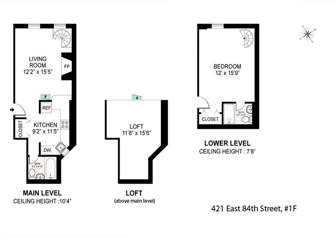 421 East 84th Street 1F, Upper East Side, NYC, $750,000, Web #: 20814144