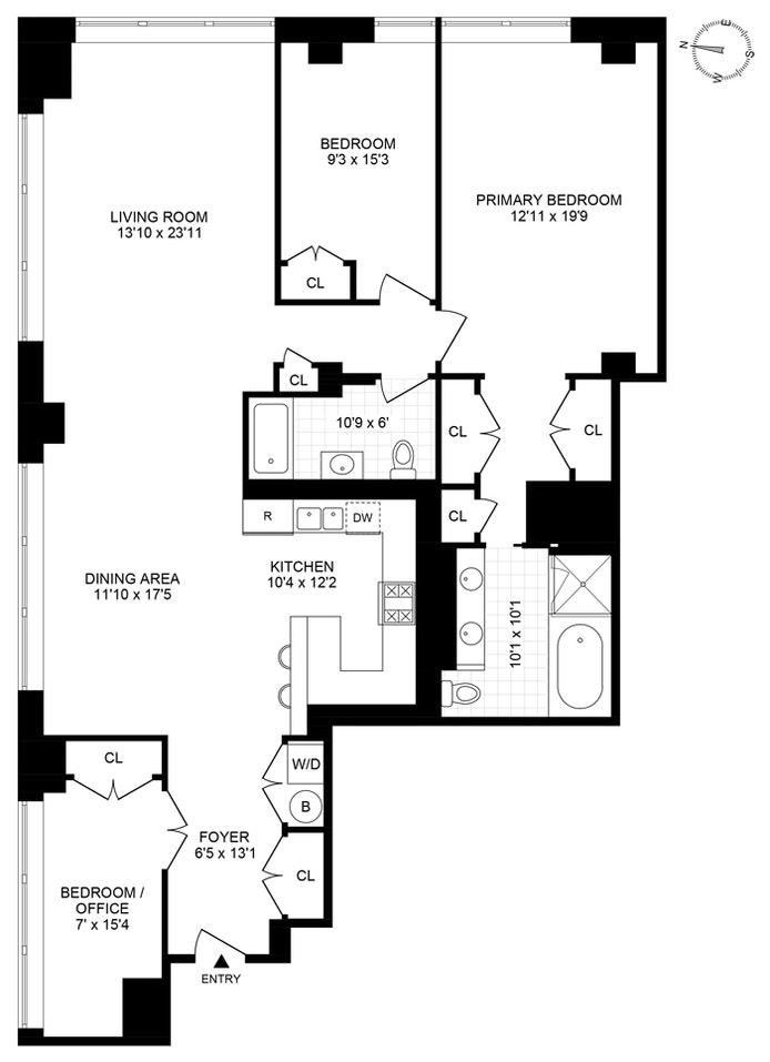25 North Moore Street 9C, Tribeca, NYC, $3,495,000, Web #: 20830729