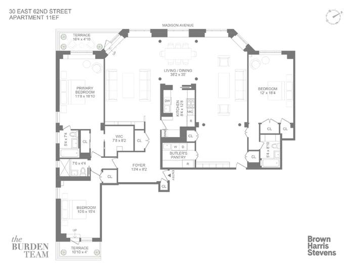 30 East 62nd Street 11Ef, Upper East Side, NYC, $15,500, Web #: 20837634