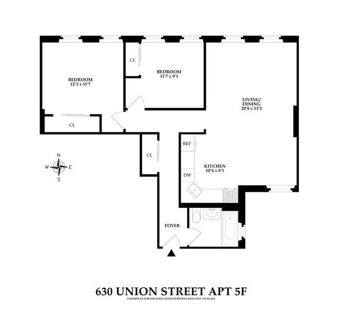 630 Union Street 5F, Park Slope, New York, $795,000, Web #: 20839983