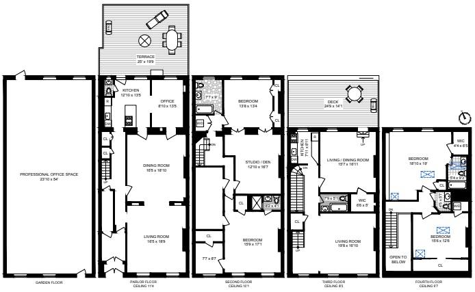 89 Remsen Street, Brooklyn Heights, New York, $7,450,000, Web #: 20847438
