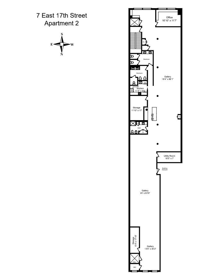7 East 17th Street 2ndflr, Flatiron, NYC, $5,995,000, Web #: 20847756