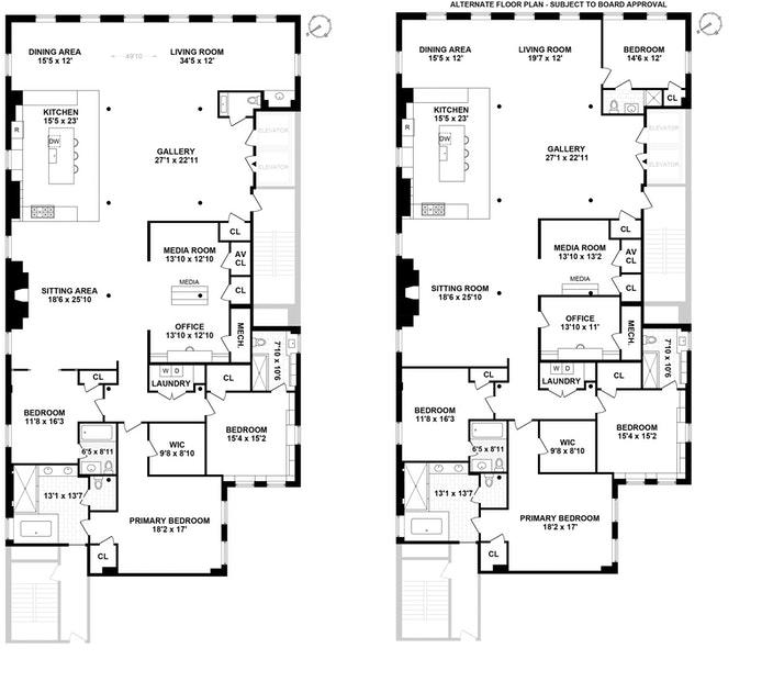 158 Mercer Street 10B, Soho, NYC, $9,750,000, Web #: 20850928
