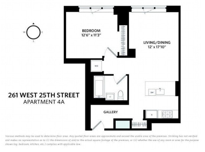 261 West 25th Street 4A, Chelsea, NYC, $1,225,000, Web #: 20852962
