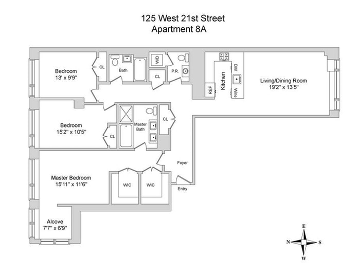 125 West 21st Street 8A, Chelsea, NYC, $2,775,000, Web #: 20856884