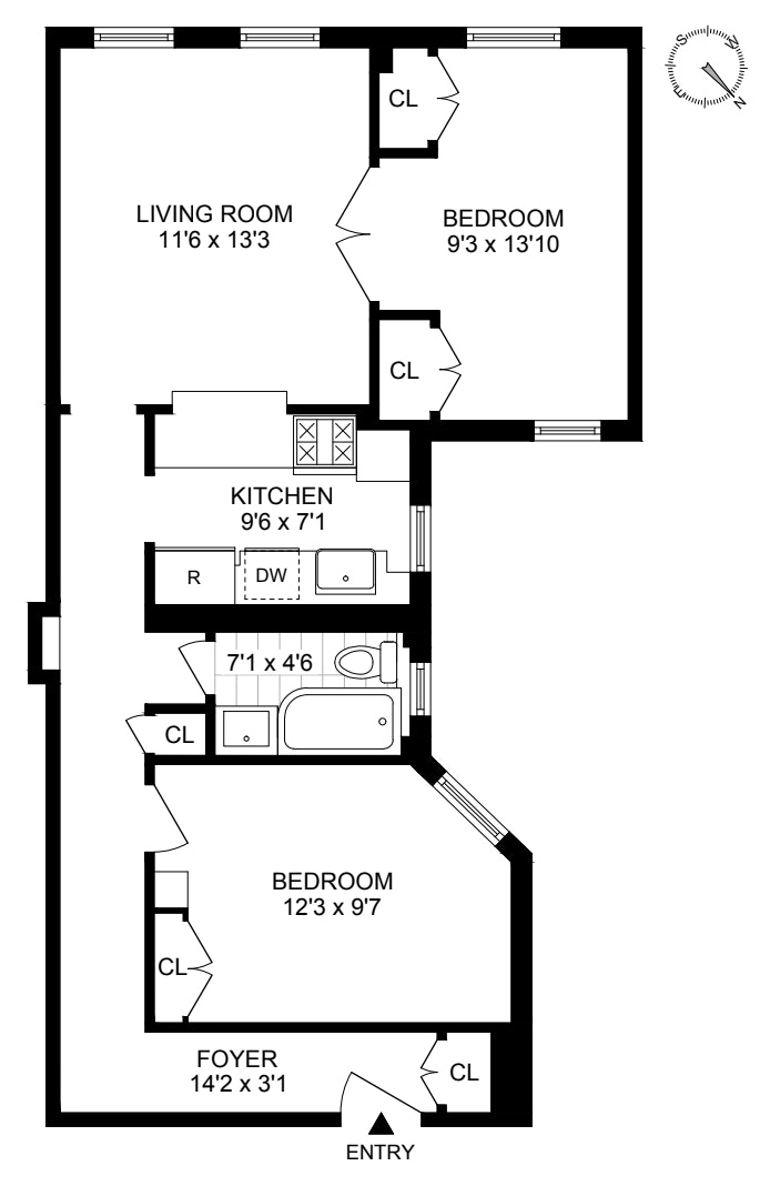 334 West 85th Street 2B, Upper West Side, NYC, $850,000, Web #: 20861039