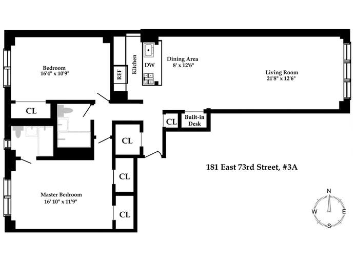 181 East 73rd Street 3A, Upper East Side, NYC, $1,295,000, Web #: 20861591