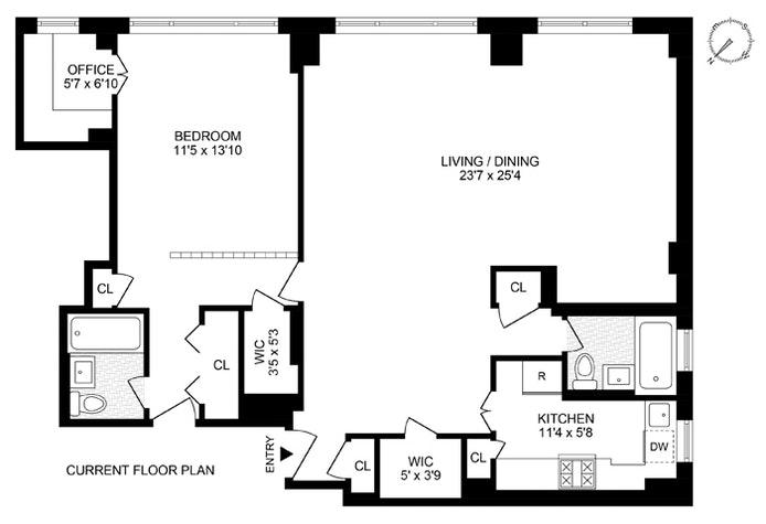 201 West 21st Street 9Ef, Chelsea, NYC, $1,100,000, Web #: 20862279
