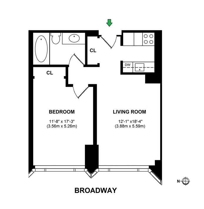 1 Central Park West 820, Upper West Side, NYC, $795,000, Web #: 20865176