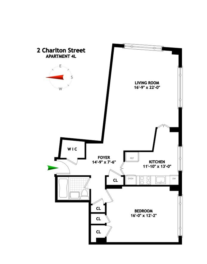 2 Charlton Street 4L, Tribeca/SOHO/Chinatown, NYC, $0, Web #: 20868318