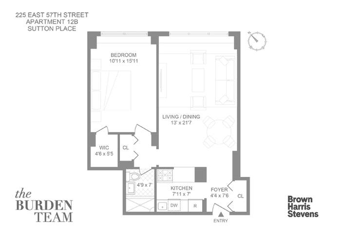 225 East 57th Street 12B, Midtown East, NYC, $625,000, Web #: 20869946