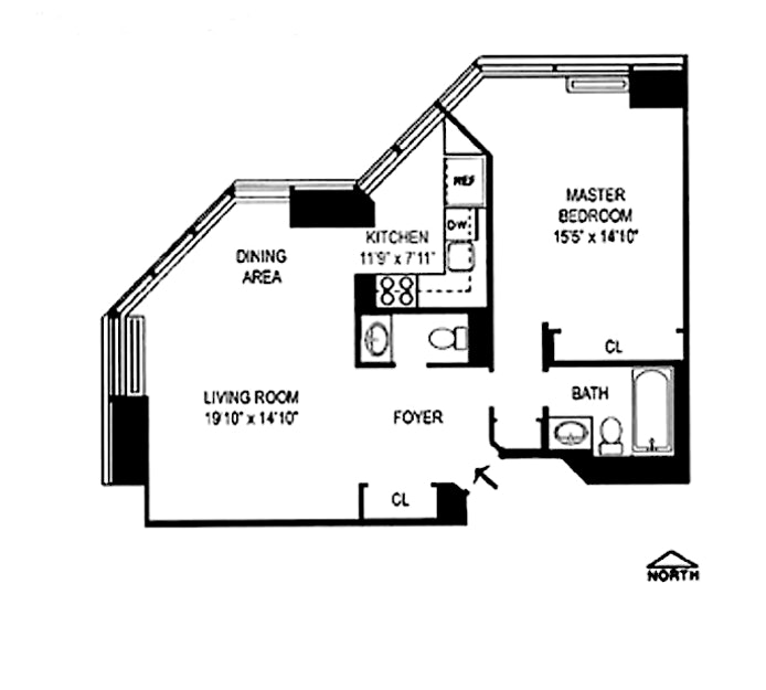 150 West 56th Street 3907, Midtown West, NYC, $3,500, Web #: 20876927