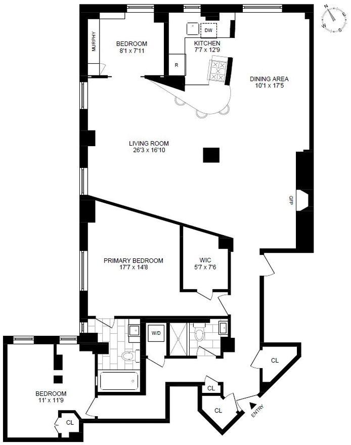 1349 Lexington Avenue 6E, Upper East Side, NYC, $1,995,000, Web #: 20877616