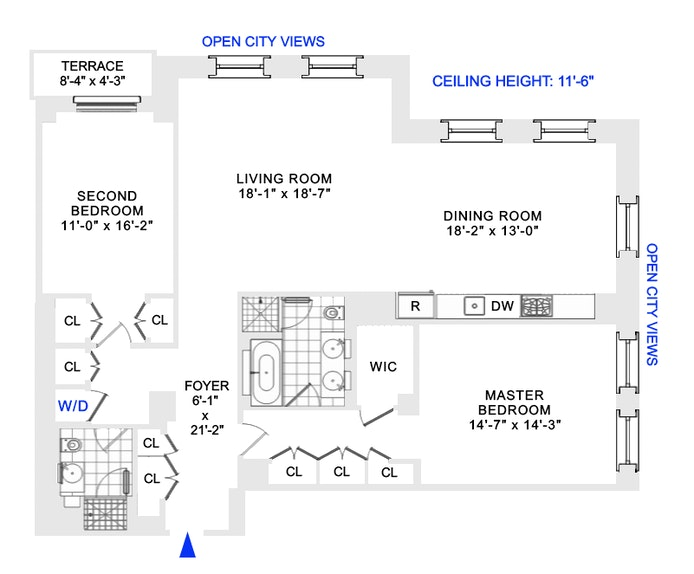 15 Broad Street 3010, Financial District, NYC, $1,849,000, Web #: 20878295