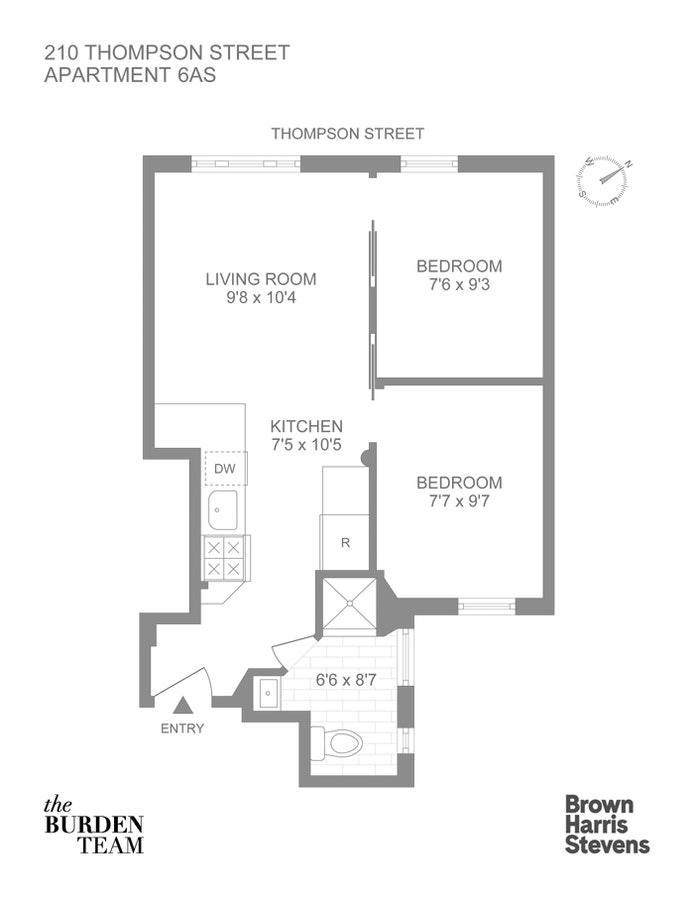 210 Thompson Street 6As, West Village, NYC, $675,000, Web #: 20901374
