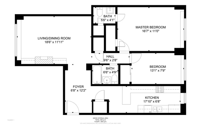 1270 Fifth Avenue 9H, Upper East Side, NYC, $960,000, Web #: 20908206