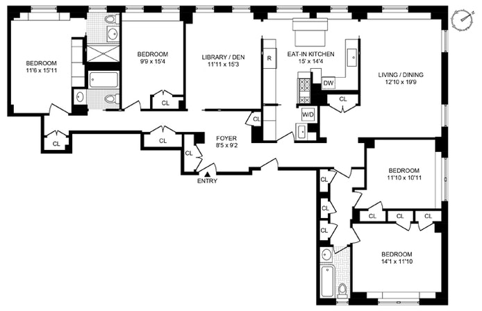 Renovated 4 Bedroom On West 75th Street, Upper West Side, NYC, $3,300,000, Web #: 20914135