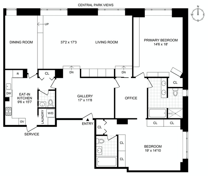 150 Central Park S 1701, Midtown West, NYC, $6,900,000, Web #: 20937402