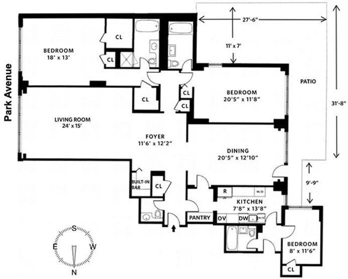 650 Park Avenue 2F, Upper East Side, NYC, $2,750,000, Web #: 20938892