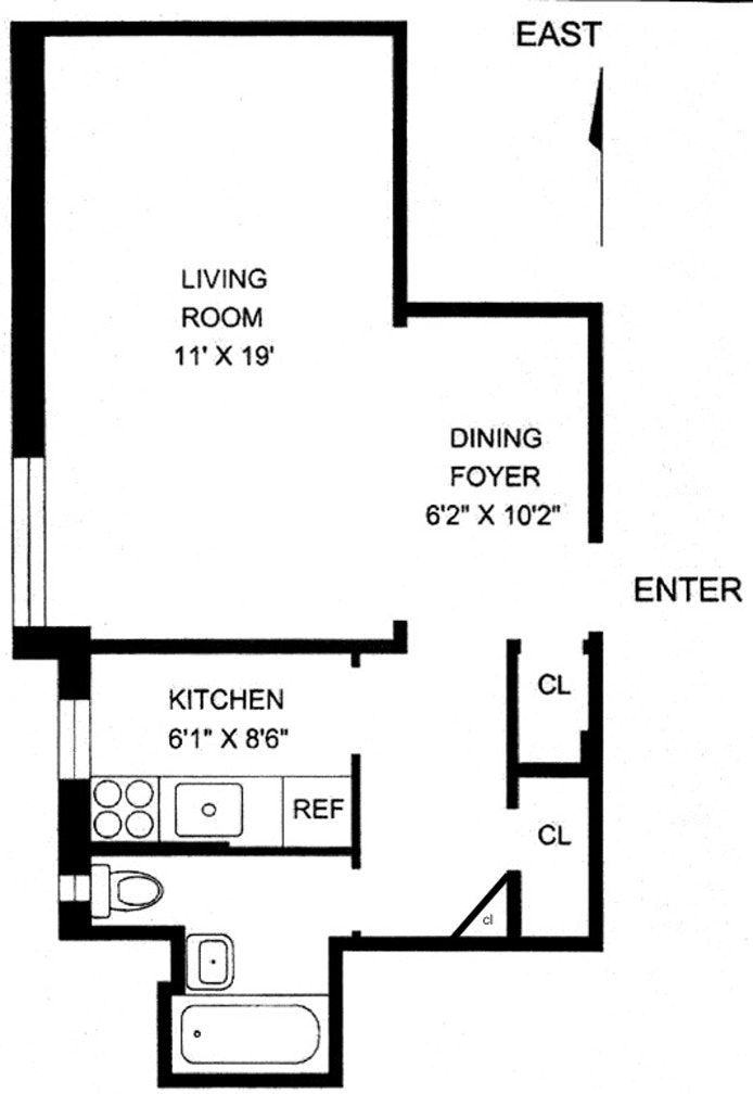 349 East 49th Street 4V, Midtown East, NYC, $385,000, Web #: 20958292