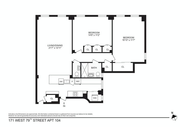 171 West 79th Street 104, Upper West Side, NYC, $1,740,000, Web #: 20965160
