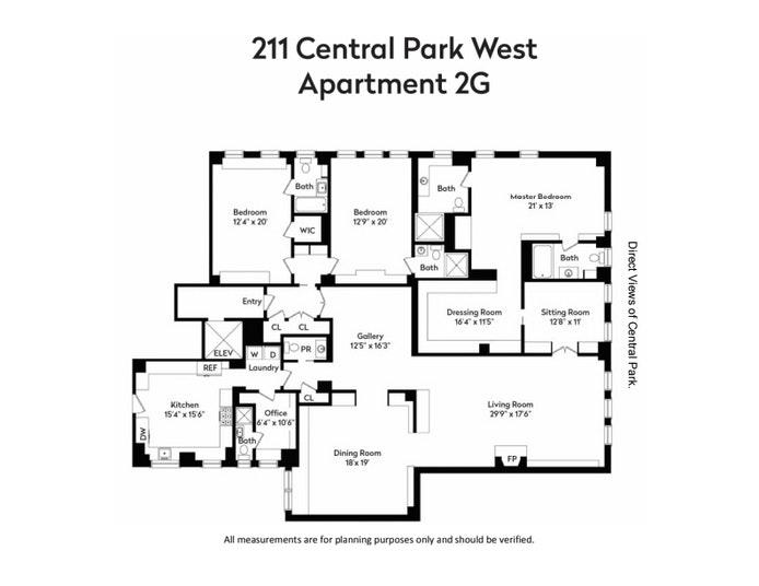 211 Central Park West 2G, Upper West Side, NYC, $9,950,000, Web #: 20965352