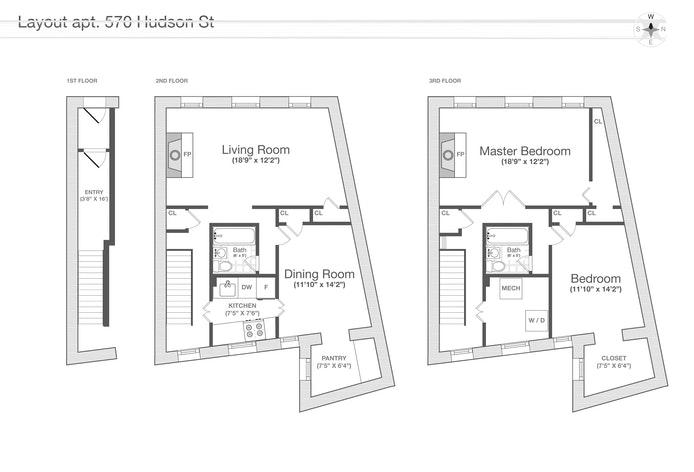 570 Hudson Street, Townhouse, West Village, NYC, $7,000, Web #: 20979760