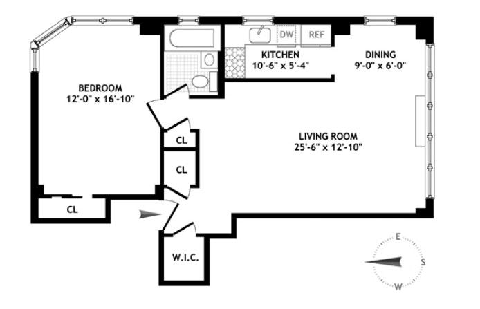 175 West 13th Street 9B, Central Village, NYC, $1,295,000, Web #: 20992996