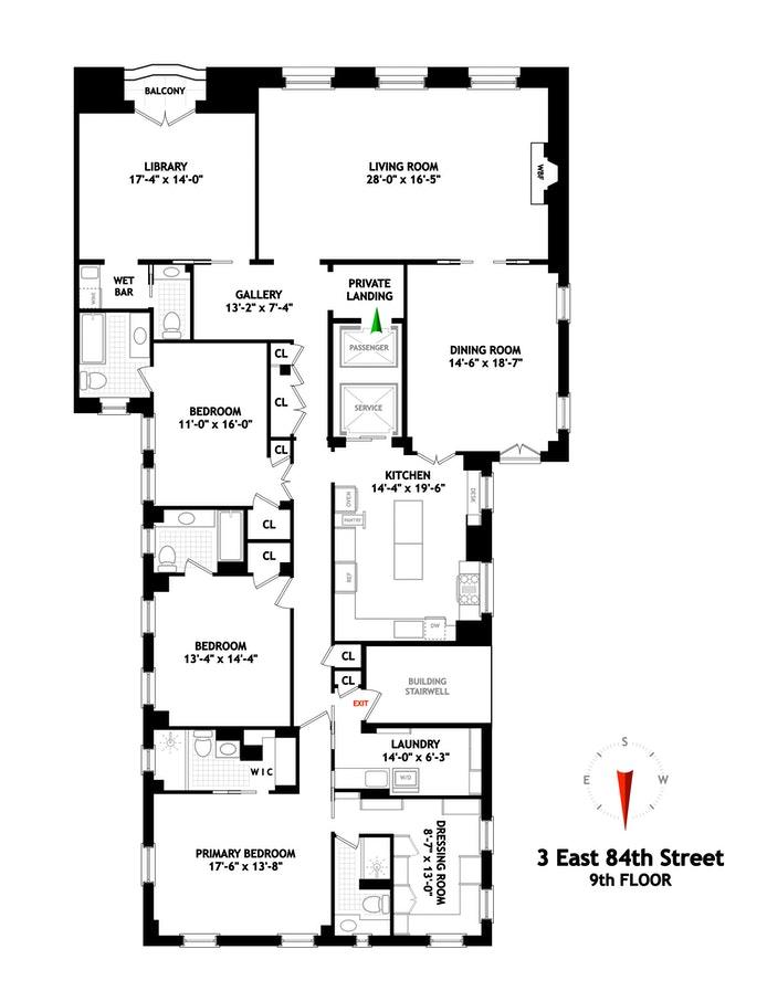3 East 84th Street 9thflr, Upper East Side, NYC, $5,500,000, Web #: 21022195