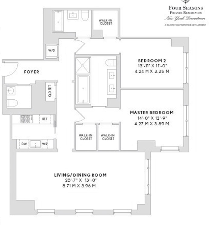 30 Park Place 63C, Tribeca, NYC, $4,980,000, Web #: 21023277