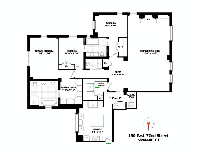 150 East 72nd Street 11S, Upper East Side, NYC, $5,200,000, Web #: 21023431