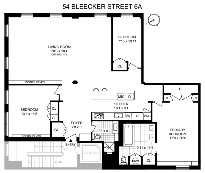 54 Bleecker Street 6A, Noho, NYC, $15,000, Web #: 21031428