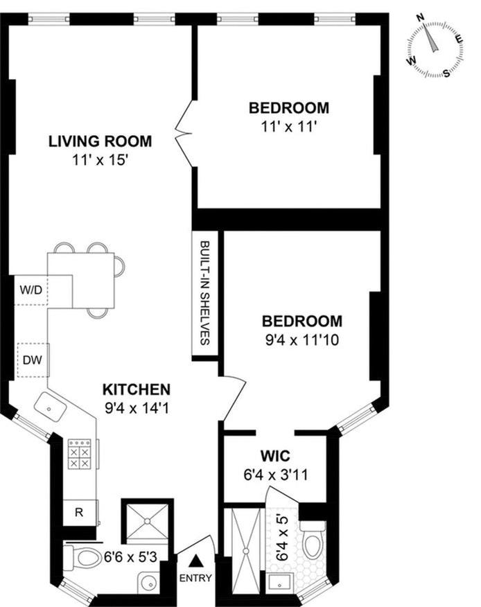 241 East 7th Street 5C, East Village, NYC, $990,000, Web #: 21036372