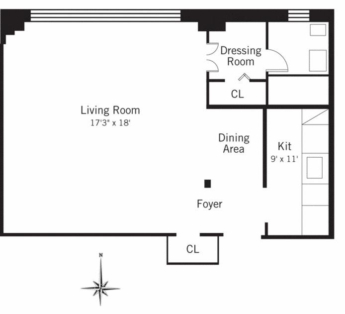 139 East 33rd Street 4M, Midtown East, NYC, $415,000, Web #: 21037070