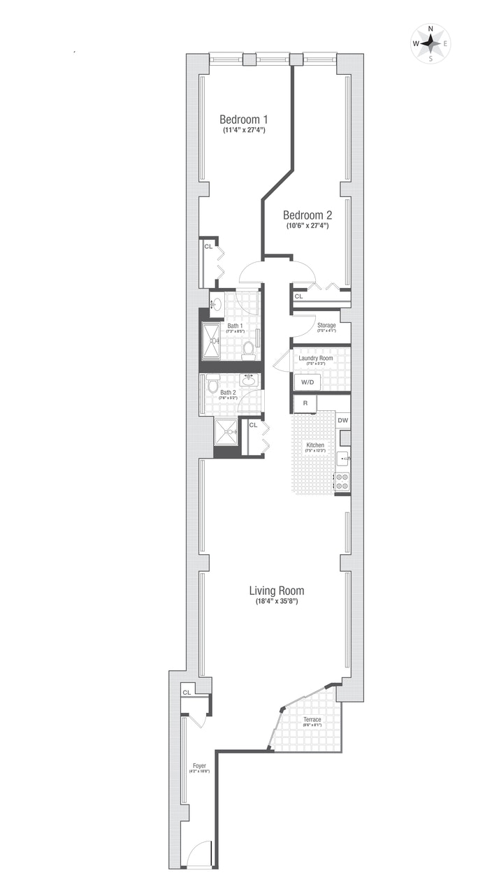 36 Laight Street 2R, Tribeca, NYC, $7,495, Web #: 21050659