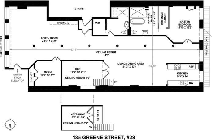 135 Greene Street 2S, Soho, NYC, $16,500, Web #: 21057902