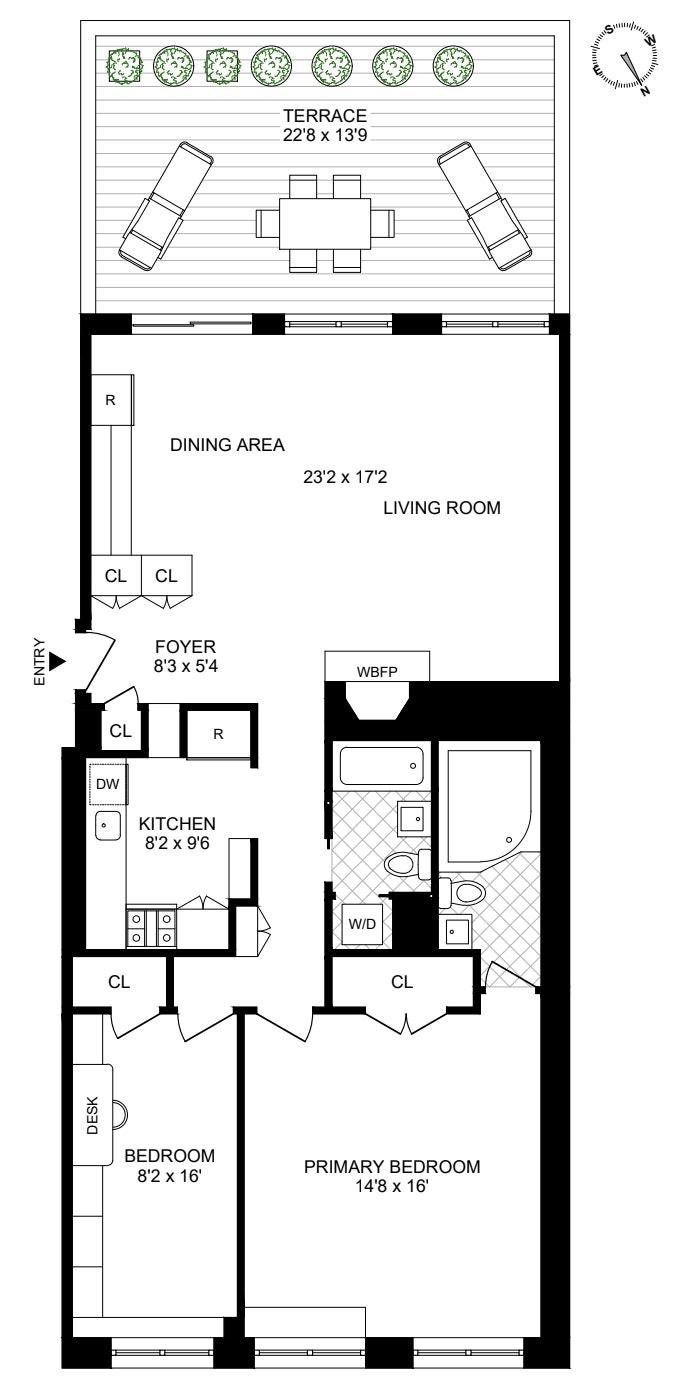 99 Reade Street 7W, Tribeca/SOHO/Chinatown, NYC, $8,950, Web #: 21065822
