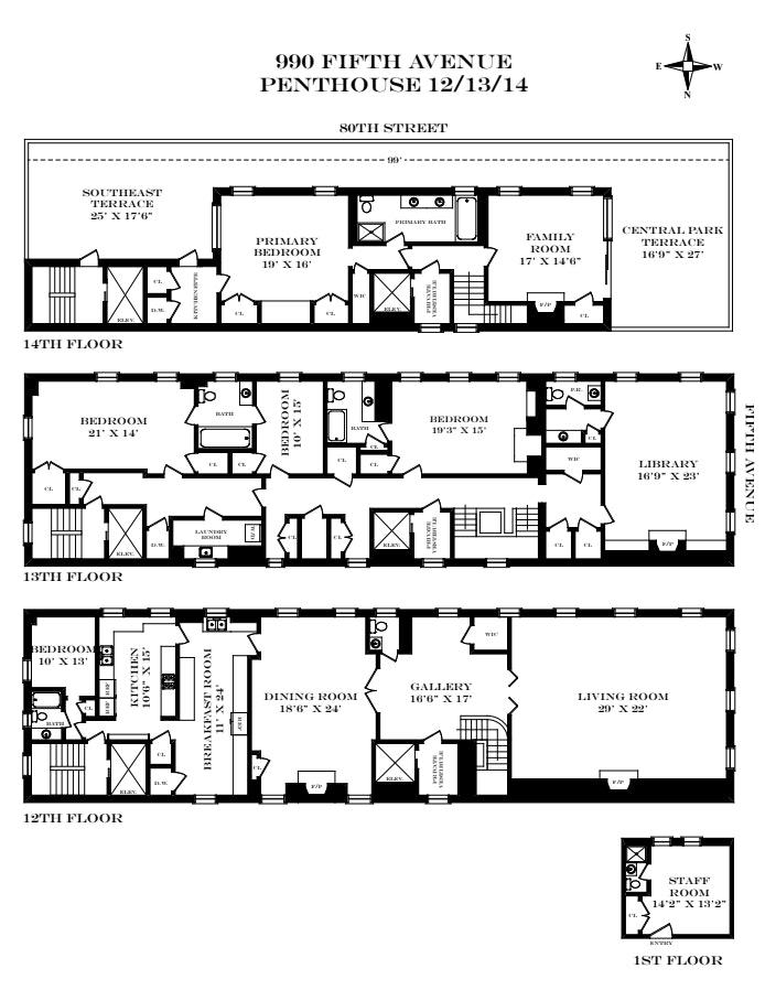 990 Fifth Avenue Ph12/13/14, Upper East Side, NYC, $35,000,000, Web #: 21066483