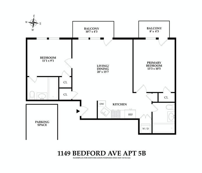 1149 Bedford Ave 5B, Bedford Stuyvesant, New York, $850,000, Web #: 21070494