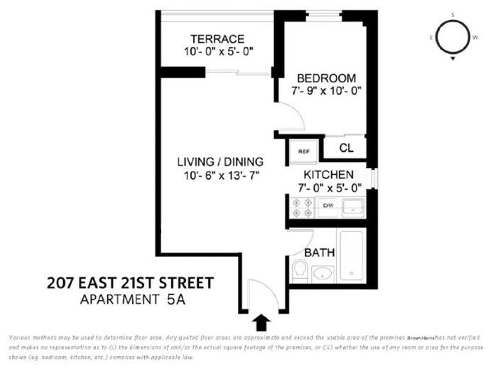207 East 21st Street 5A, Gramercy Park, NYC, $599,000, Web #: 21072820