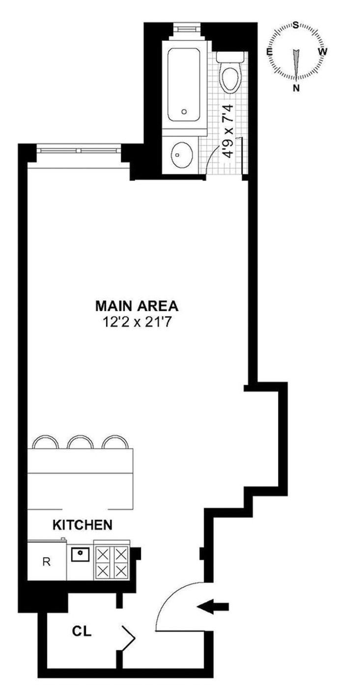440 West 34th Street 7F, Midtown West, NYC, $2,350, Web #: 21087823