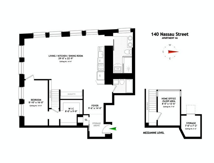140 Nassau Street 4A, Financial District, NYC, $1,995,000, Web #: 21101608