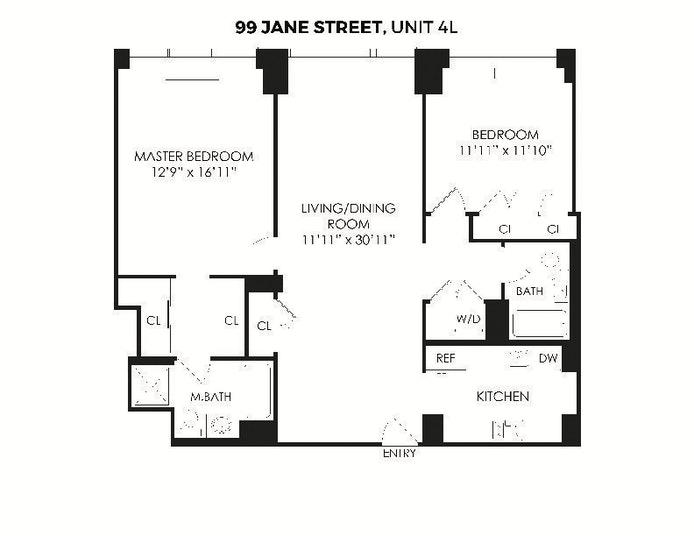 99 Jane Street 4L, West Village, NYC, $7,500, Web #: 21105213